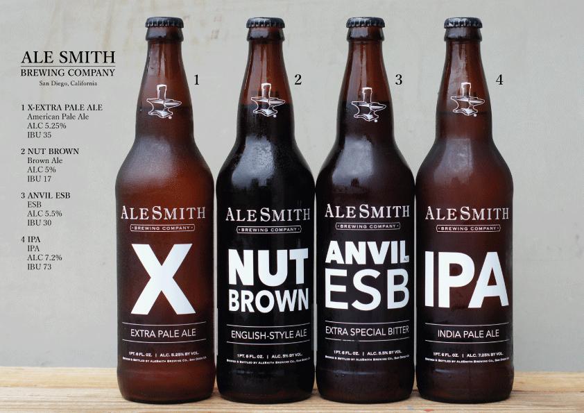 エールスミス・ブリューイング IPA, XPA, ESB, Nut Brown